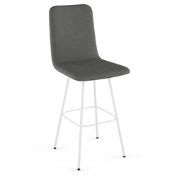 Bray Modern Swivel Bar Stool by Amisco in Pure + Thunder