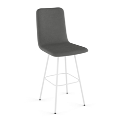 Bray Modern Swivel Counter Stool by Amisco in Pure + Thunder