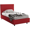 Breeze Contemporary Twin Bed in Flame by Amisco