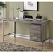Brenden Contemporary Dark Taupe Desk with Storage Cabinet