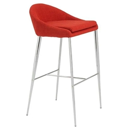 Brielle Modern Orange Bar Stool