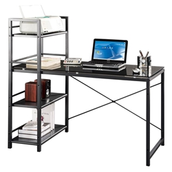 Brinkley Modern Desk with Shelving