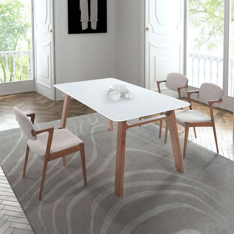 Brickell Dove Gray Dining Chair By Zuo Eurway
