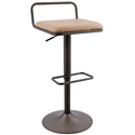 Briscoe Modern Adjustable Stool Antique + Camel