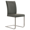 Britain Modern Gray Leather Dining Chair