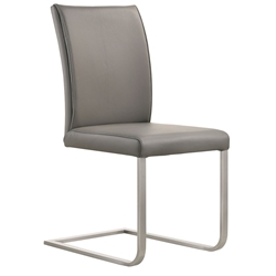 Britain Modern Light Gray Leather Dining Chair