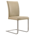 Britain Modern Light Mocha Leather Dining Chair