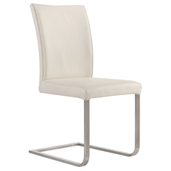 Britain Modern White Leather Dining Chair