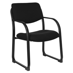 Briton Black Fabric + Black Powder Coated Steel Modern Office Guest Chair