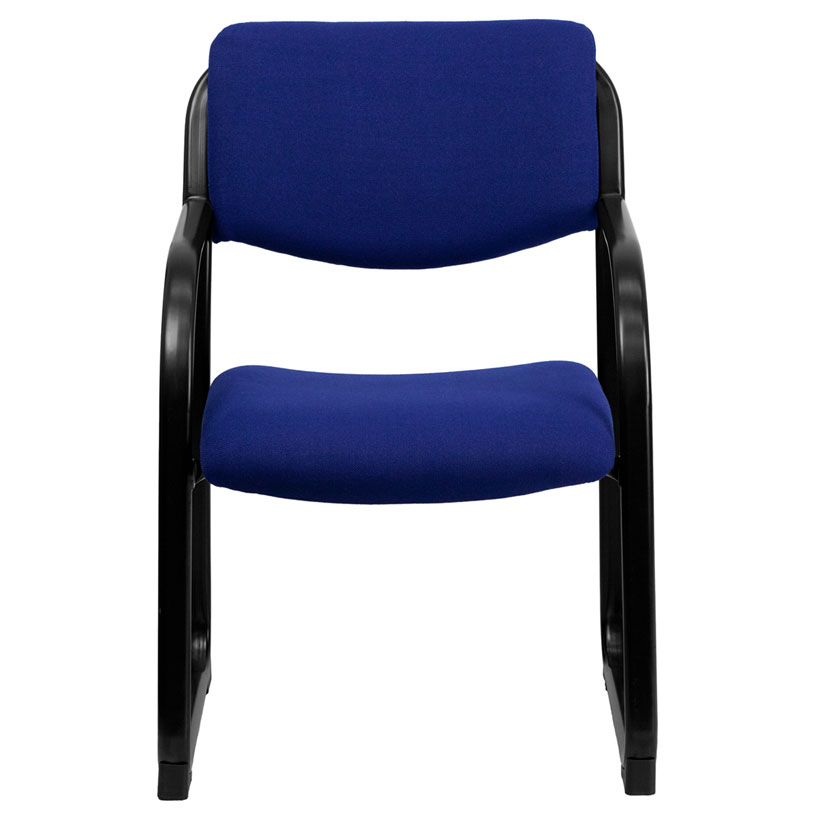 ... Briton Blue Fabric + Black Powder Coated Steel Contemporary Office Guest Chair ...  sc 1 st  Eurway & Modern Guest Chairs   Briton Blue Visitor Chair   Eurway