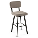 Brixton Modern Swivel Bar Stool by Amisco in Harley + Shitake