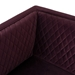 Nuevo Brooke Mulberry Velour + Matte Black Steel Modern Box Sofa - Detail