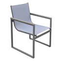 Brookline Modern Gray Outdoor Dining Chair