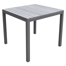 Brookline Modern Gray Outdoor Dining Table