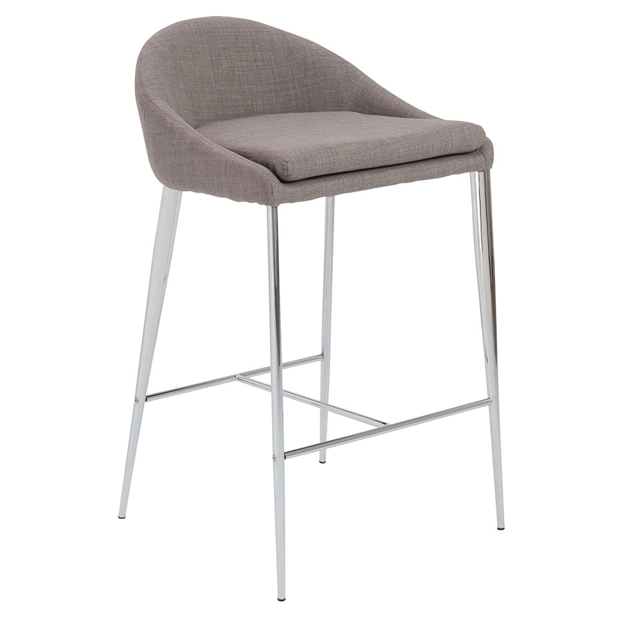 Brooks Modern Gray Counter Stool
