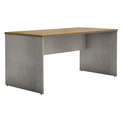 Modloft Broom Latte Walnut + Weathered Concrete Modern Desk