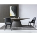 Bruno Contemporary Gray Oval Dining Table by Whiteline