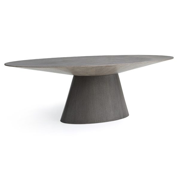 Bruno Modern Gray Oval Dining Table by Whiteline