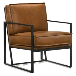 Brunswick Modern Saddle Brown Leather Chair