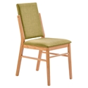 Brunswick Modern American White Oak + Green Dining Chair
