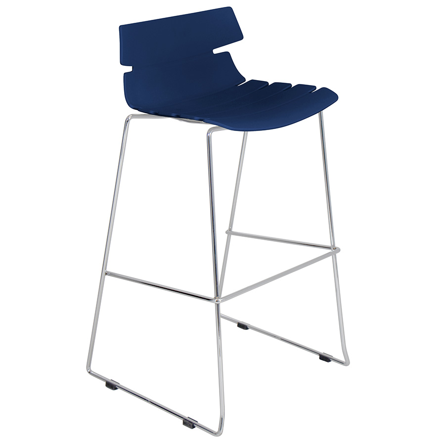 Ordinaire Call To Order · Bryant Modern Navy Blue Stacking Bar Stool