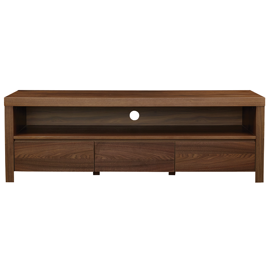 Banfield Walnut Contemporary Tv Stand