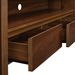 Banfield Walnut Modern TV Stand Detail