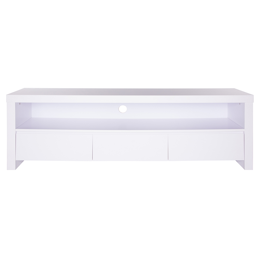 modern media stands  bryant white tv stand  eurway -  bryant matte white modern european tv stand
