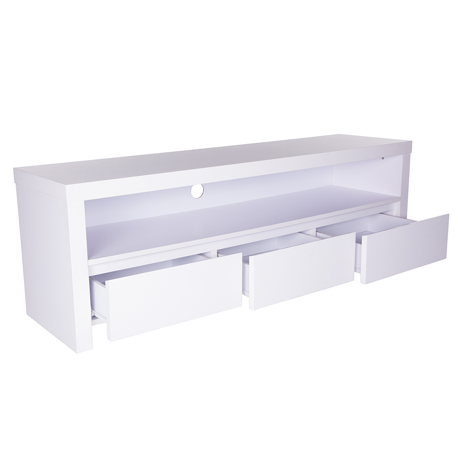 bryant matte white modern tv stand . modern media stands  bryant white tv stand  eurway