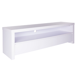 Bryant Matte White Contemporary European Modern TV Stand + Cabinet
