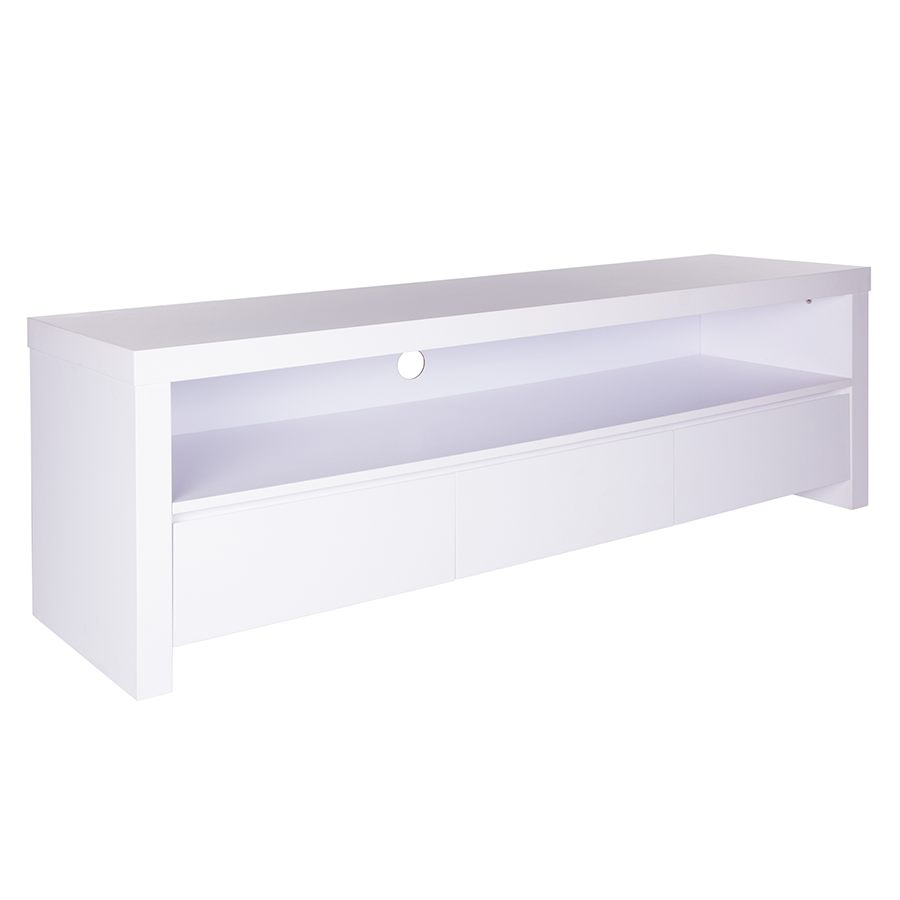 Bryant Matte White Contemporary European Modern Tv Stand Cabinet