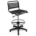 Bungie Black Modern Drafting Stool