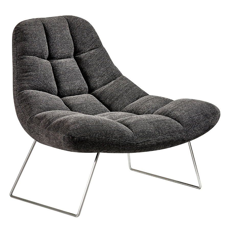 Burlington Modern Lounge Chair in Charcoal