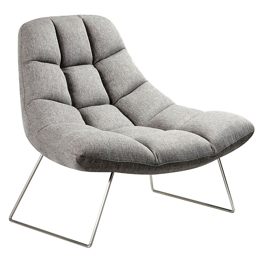 Superb Burlington Modern Lounge Chair In Light Gray