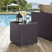 Cabo Contemporary Espresso Rattan Outdoor End Table