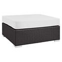Cabo Large Square Outdoor Modern Ottoman - White