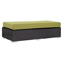 Cabo Modern Outdoor Rectangular Ottoman - Green
