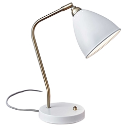 Cadiz Modern White Desk Lamp