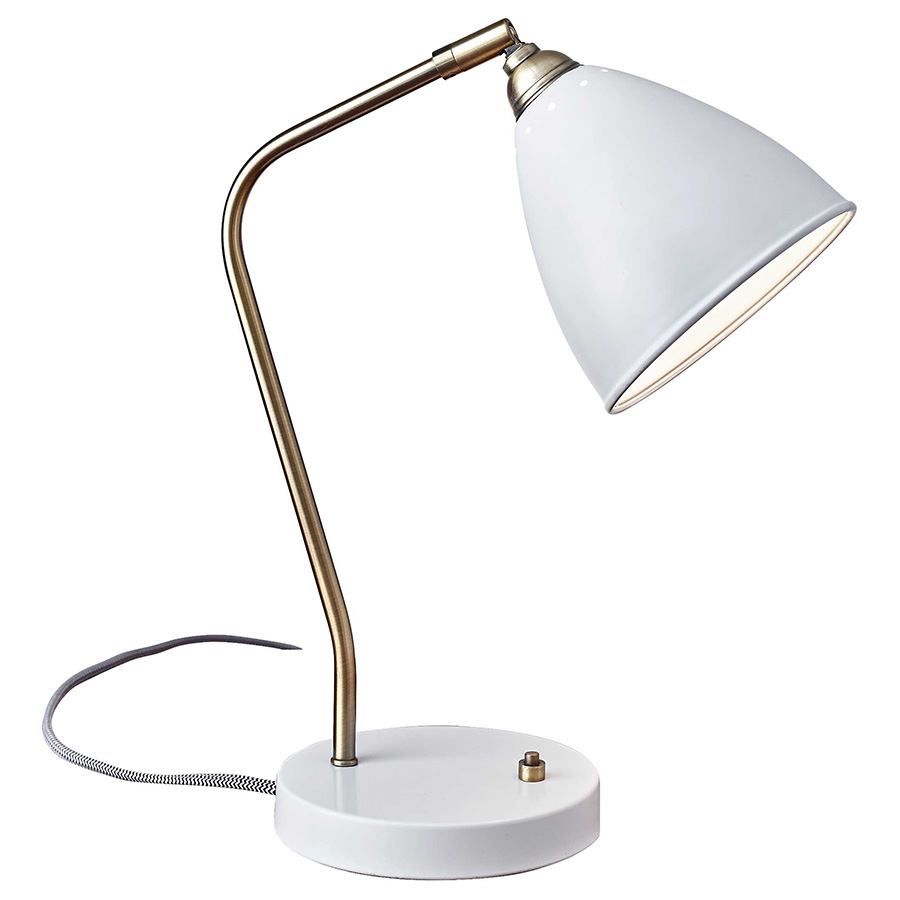 Call To Order Cadiz Modern White Desk Lamp