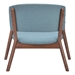 Caesar Fabric + Walnut Contemporary Lounge Chair