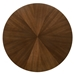 Cairns Modern 54 inch Round Walnut Dining Table - Overhead Top View