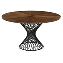 Cairns Modern 54 inch Round Walnut Dining Table