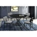 Cairns Contemporary 54 in. Round Black Dining Table