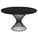 Cairns Modern 54 inch Round Black Dining Table