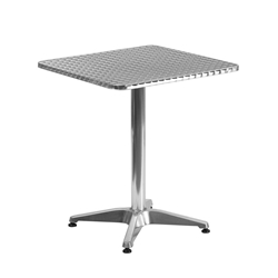 Calais 23.5 Inch Square Modern Outdoor Dining Table