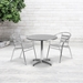 Calais Modern Outdoor Table - 31.5 in. Round