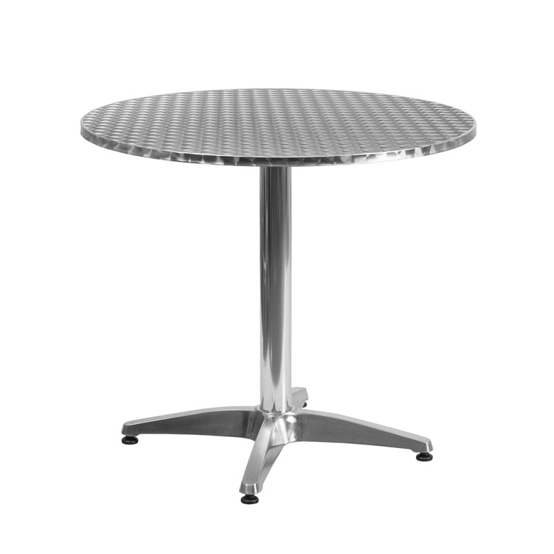 Calais 31.5 Inch Round Modern Outdoor Dining Table