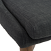 Clayton Charcoal Modern Dining Chair Detail