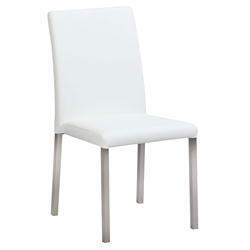 Calderon White Modern Dining Side Chair
