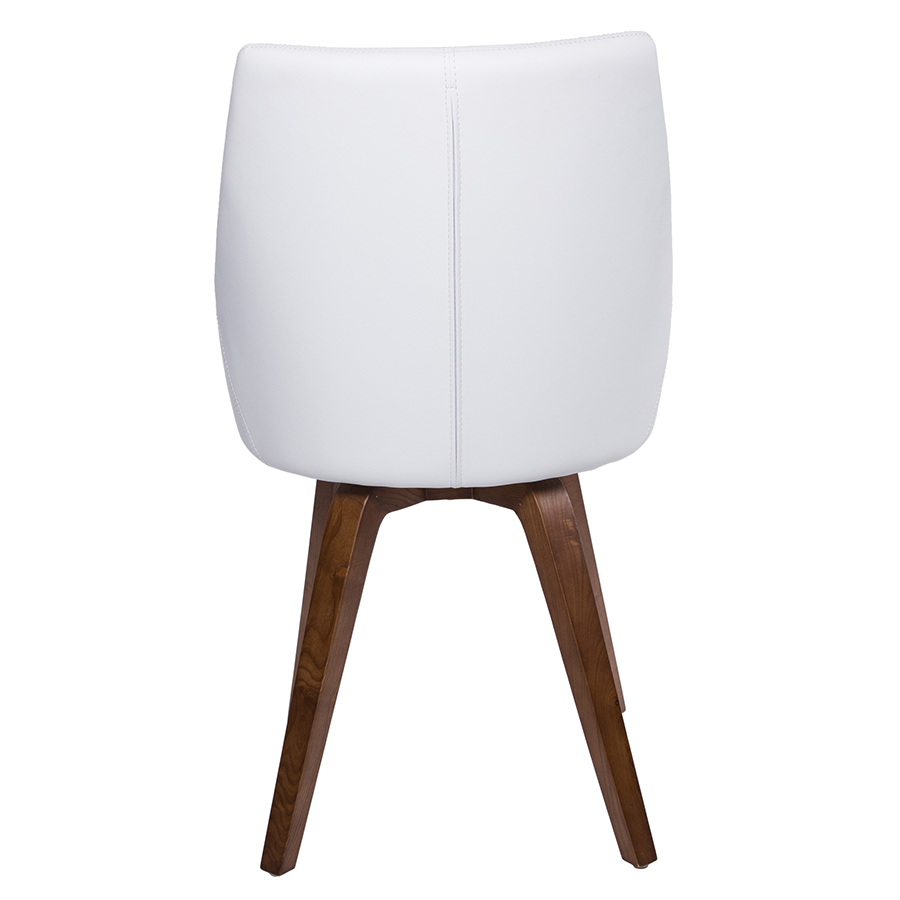 Calla white modern dining chair eurway furniture for Contemporary white dining chairs